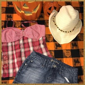 Cowgirl Outfit both GUESS Sz M top sz28skirt EUC